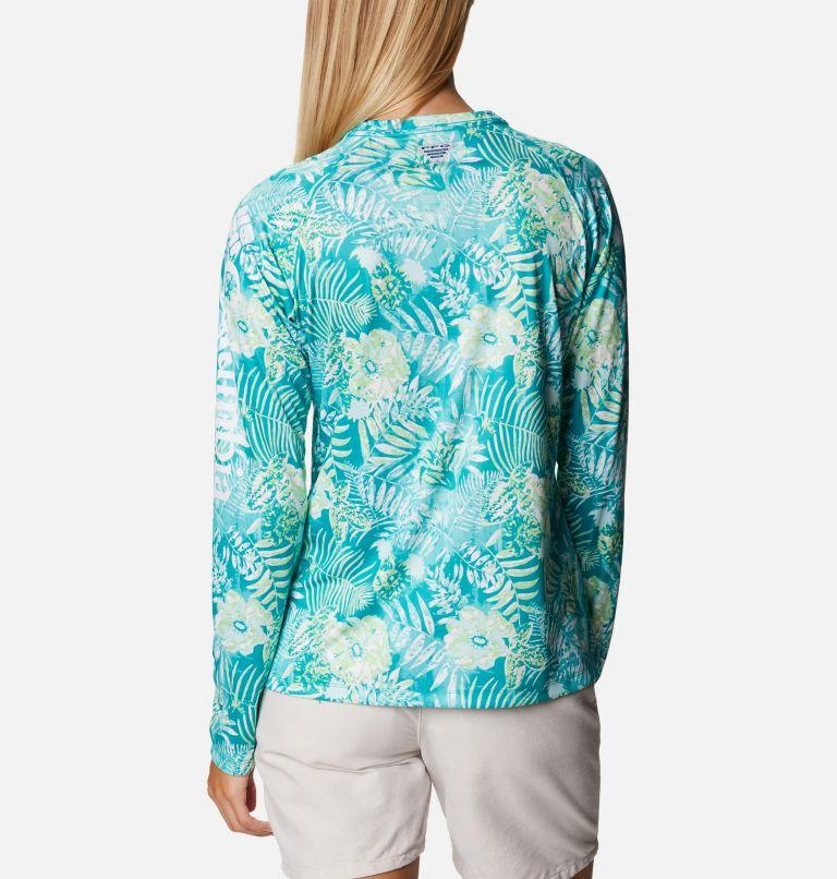 Super Tidal Tee™ Long Sleeve | 361 | S Women's PFG Super Tidal Tee™ Long Sleeve, Tropic Water Batik Floral Print, back
