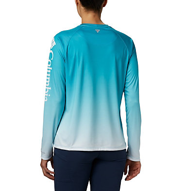 Women's PFG Super Tidal Tee™ Long Sleeve Super Tidal Tee™ Long Sleeve | 475 | XS, Clear Water Gradient, back