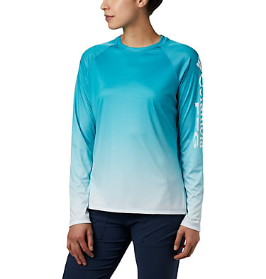 Women's PFG Super Tidal Tee™ Long Sleeve Super Tidal Tee™ Long Sleeve | 475 | XS, Clear Water Gradient, front