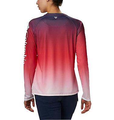 Women's PFG Super Tidal Tee™ Long Sleeve Super Tidal Tee™ Long Sleeve | 475 | XS, Red Lily Gradient, back