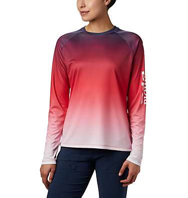Women's PFG Super Tidal Tee™ Long Sleeve Super Tidal Tee™ Long Sleeve | 475 | XS, Red Lily Gradient, front