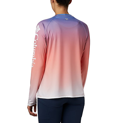 Women's PFG Super Tidal Tee™ Long Sleeve Super Tidal Tee™ Long Sleeve | 426 | XS, Lychee Gradient, back