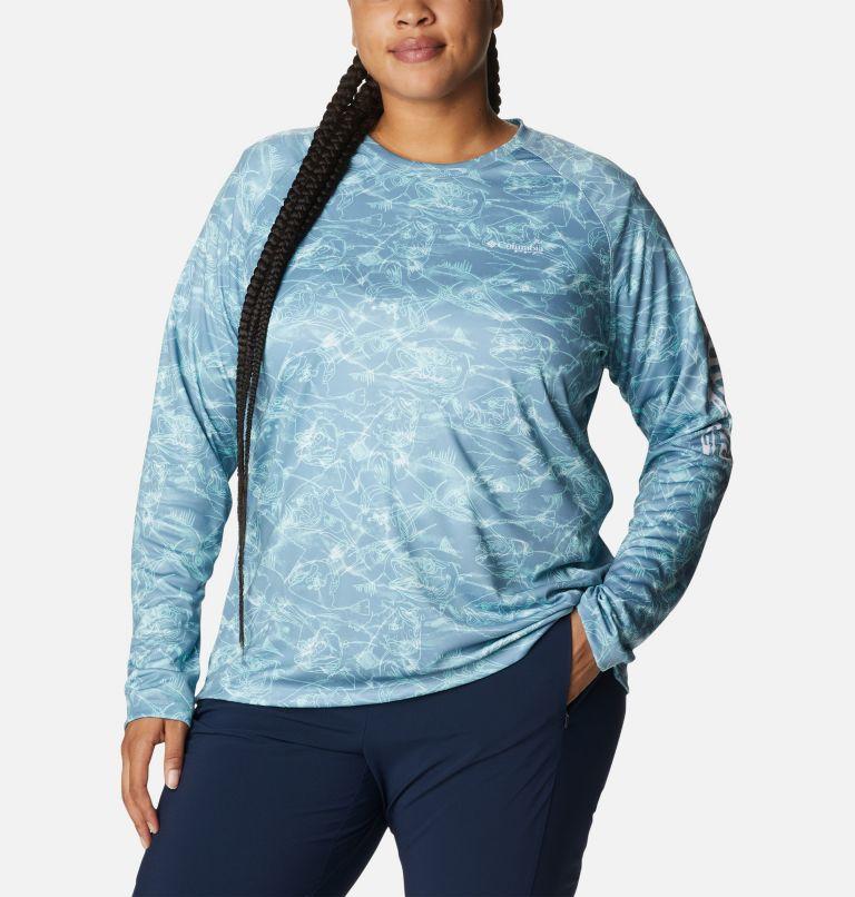 Women's PFG Super Tidal Tee™ II Long Sleeve Shirt - Plus Size Women's PFG Super Tidal Tee™ II Long Sleeve Shirt - Plus Size, front