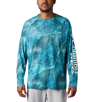 Super Terminal Tackle™ Long Sleeve Shirt Super Terminal Tackle™ Long Sleeve Shirt | 911 | L, Bright Aqua Realtree MAKO, front
