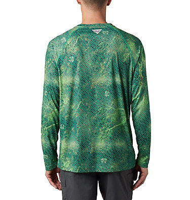 Super Terminal Tackle™ Long Sleeve Shirt Super Terminal Tackle™ Long Sleeve Shirt | 910 | L, Dark Lime Realtree MAKO, back