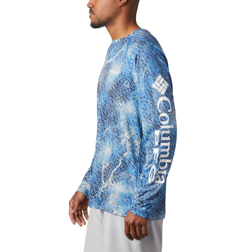 Super Terminal Tackle™ Long Sleeve Shirt | 911 | XL Men's Super Terminal Tackle™ Long Sleeve Shirt, Vivid Blue Realtree MAKO, a1