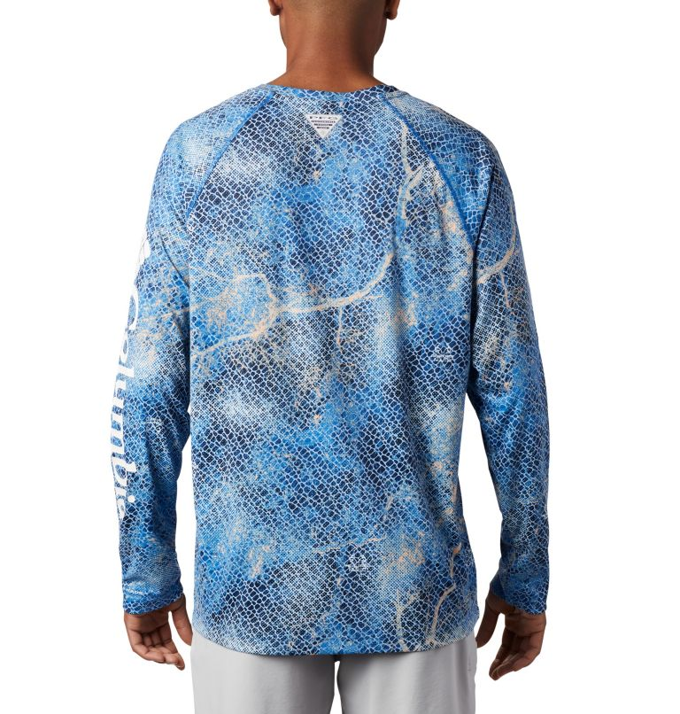 Super Terminal Tackle™ Long Sleeve Shirt | 911 | XL Men's Super Terminal Tackle™ Long Sleeve Shirt, Vivid Blue Realtree MAKO, back