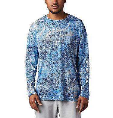Super Terminal Tackle™ Long Sleeve Shirt Super Terminal Tackle™ Long Sleeve Shirt | 911 | L, Vivid Blue Realtree MAKO, front