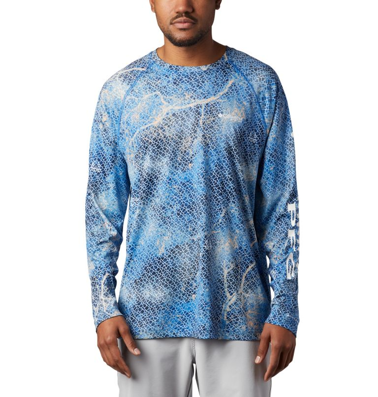 Super Terminal Tackle™ Long Sleeve Shirt | 911 | XL Men's Super Terminal Tackle™ Long Sleeve Shirt, Vivid Blue Realtree MAKO, front