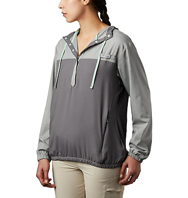 Women's PFG Tamiami™ Hoodie Tamiami™ Hoodie | 463 | L, City Grey, New Mint, front
