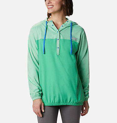 Women's PFG Tamiami™ Hoodie Tamiami™ Hoodie | 463 | L, Emerald City, Stormy Blue, front