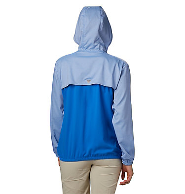 Women's PFG Tamiami™ Hoodie Tamiami™ Hoodie | 463 | L, Stormy Blue, Light Coral, back