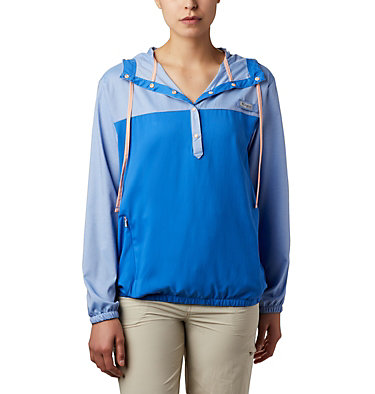 Women's PFG Tamiami™ Hoodie Tamiami™ Hoodie | 463 | L, Stormy Blue, Light Coral, front