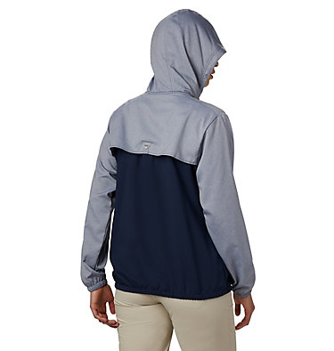 Women's PFG Tamiami™ Hoodie Tamiami™ Hoodie | 463 | L, Collegiate Navy, Red Lily, back