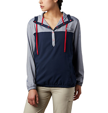 Women's PFG Tamiami™ Hoodie Tamiami™ Hoodie | 463 | L, Collegiate Navy, Red Lily, front