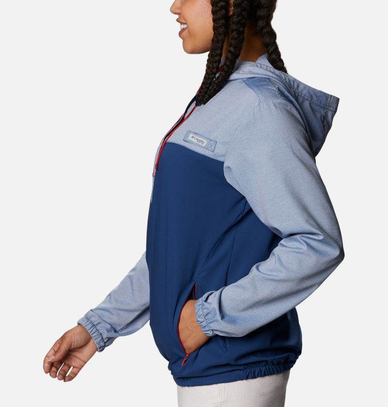 Tamiami™ Hoodie | 470 | XS Women's PFG Tamiami™ Hoodie, Carbon, Red Spark, a1