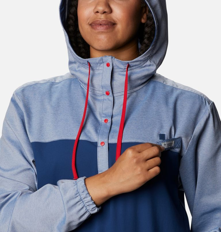 Tamiami™ Hoodie | 470 | XS Women's PFG Tamiami™ Hoodie, Carbon, Red Spark, a2