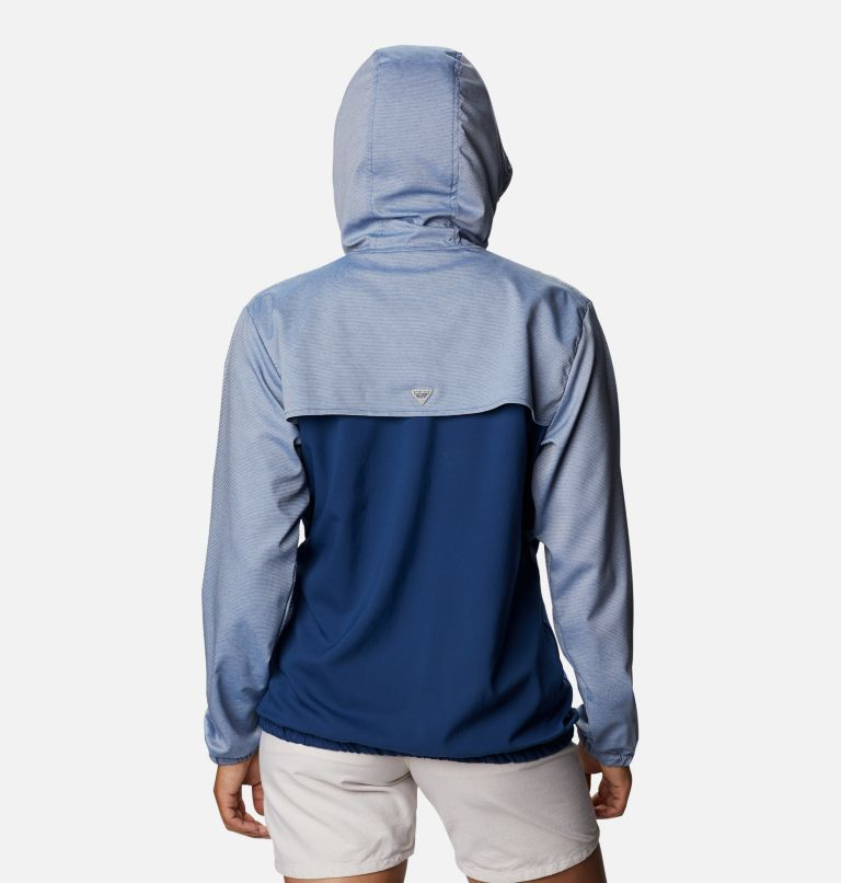 Tamiami™ Hoodie | 470 | XS Women's PFG Tamiami™ Hoodie, Carbon, Red Spark, back