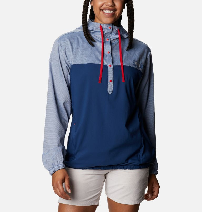 Tamiami™ Hoodie | 470 | XS Women's PFG Tamiami™ Hoodie, Carbon, Red Spark, front