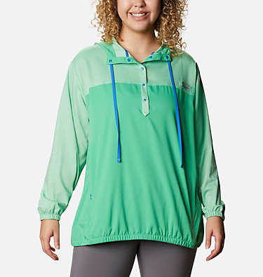 Women's Tamiami™ Hoodie - Plus Size Tamiami™ Hoodie | 463 | 2X, Emerald City, Stormy Blue, front