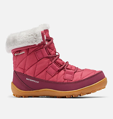 Big Kids' Minx™ Shorty Omni-Heat™ Waterproof Boot YOUTH MINX™ SHORTY OMNI-HEAT™  | 010 | 1, Dark Fuchsia, Grey Ice, front