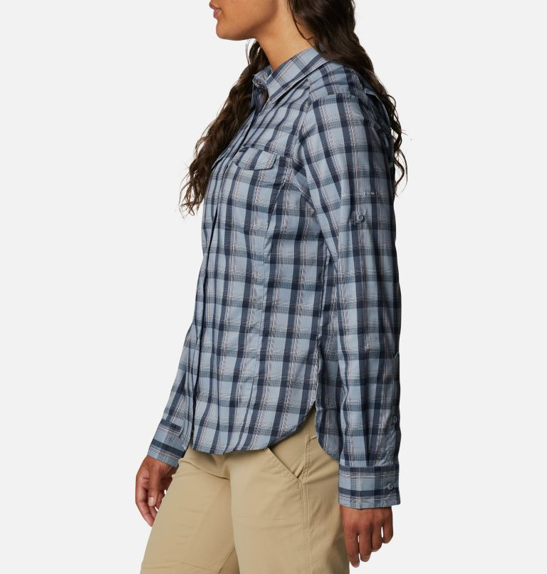 Silver Ridge™ Lite Plaid LS Shirt | 035 | L Women's Silver Ridge™ Lite Plaid Long Sleeve Shirt, Tradewinds Grey Plaid, a1