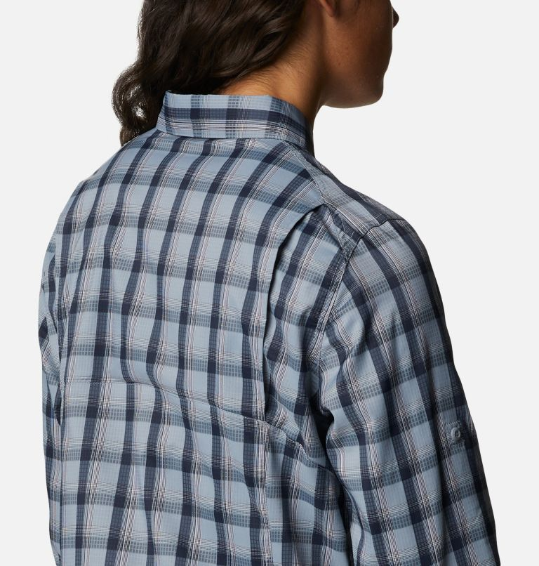 Silver Ridge™ Lite Plaid LS Shirt | 035 | L Women's Silver Ridge™ Lite Plaid Long Sleeve Shirt, Tradewinds Grey Plaid, a3