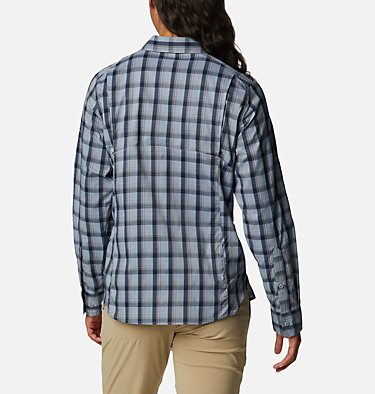 Women's Silver Ridge™ Lite Plaid Long Sleeve Shirt Silver Ridge™ Lite Plaid LS Shirt | 035 | L, Tradewinds Grey Plaid, back