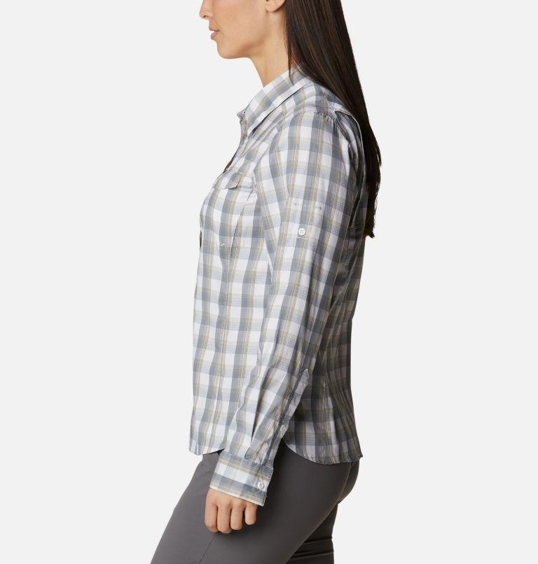 Silver Ridge™ Lite Plaid LS Shirt | 102 | L Women's Silver Ridge™ Lite Plaid Long Sleeve Shirt, White Plaid, a1
