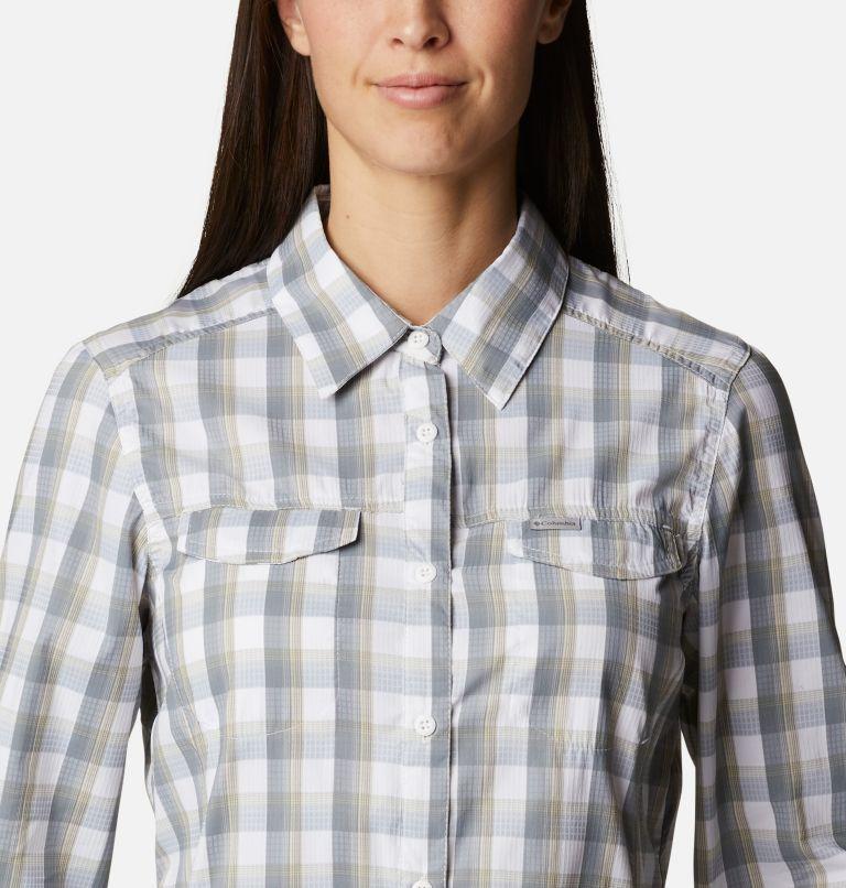 Silver Ridge™ Lite Plaid LS Shirt | 102 | XXL Women's Silver Ridge™ Lite Plaid Long Sleeve Shirt, White Plaid, a2
