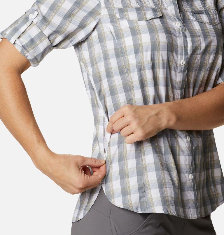 Silver Ridge™ Lite Plaid LS Shirt | 102 | L Women's Silver Ridge™ Lite Plaid Long Sleeve Shirt, White Plaid, a4