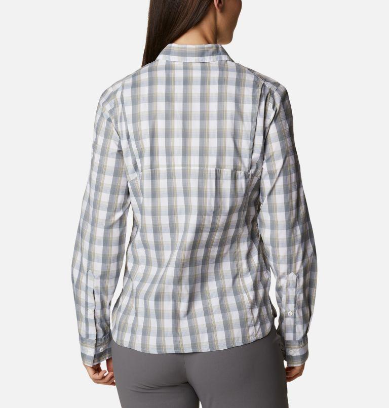 Silver Ridge™ Lite Plaid LS Shirt | 102 | XL Women's Silver Ridge™ Lite Plaid Long Sleeve Shirt, White Plaid, back
