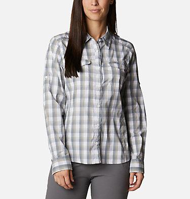 Women's Silver Ridge™ Lite Plaid Long Sleeve Shirt Silver Ridge™ Lite Plaid LS Shirt   035   L, White Plaid, front