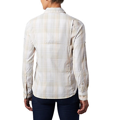 Women's Silver Ridge™ Lite Plaid Long Sleeve Shirt Silver Ridge™ Lite Plaid LS Shirt | 035 | L, Fossil Medium Multi Plaid, back