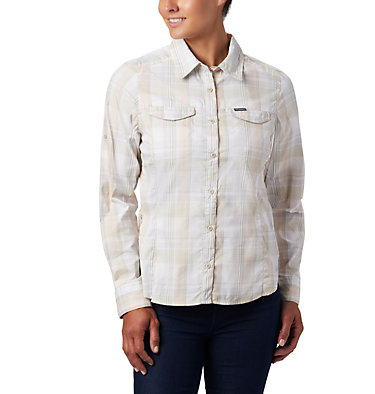 Women's Silver Ridge™ Lite Plaid Long Sleeve Shirt Silver Ridge™ Lite Plaid LS Shirt | 035 | L, Fossil Medium Multi Plaid, front
