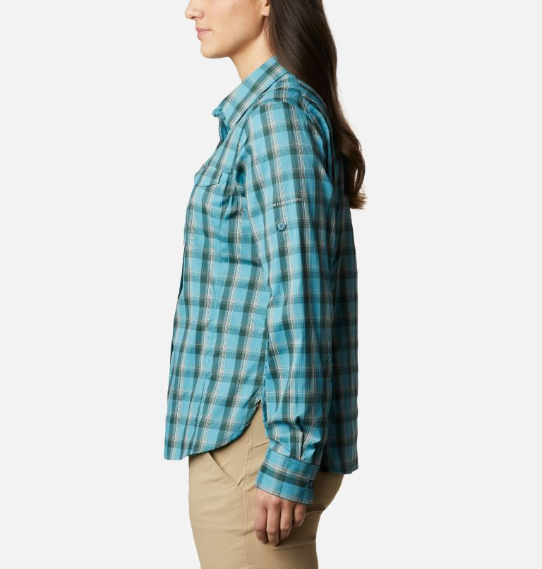 Silver Ridge™ Lite Plaid LS Shirt | 430 | XS Women's Silver Ridge™ Lite Plaid Long Sleeve Shirt, Canyon Blue Plaid, a1