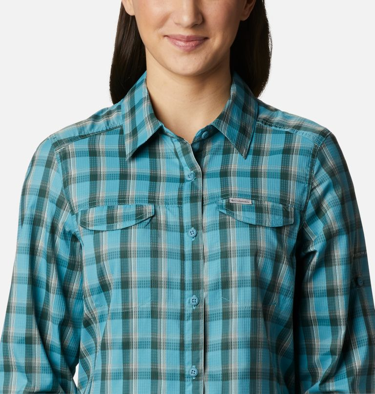 Silver Ridge™ Lite Plaid LS Shirt | 430 | XS Women's Silver Ridge™ Lite Plaid Long Sleeve Shirt, Canyon Blue Plaid, a2