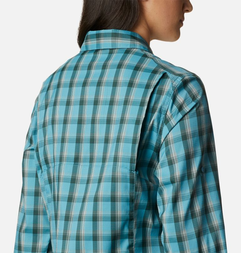 Silver Ridge™ Lite Plaid LS Shirt | 430 | XS Women's Silver Ridge™ Lite Plaid Long Sleeve Shirt, Canyon Blue Plaid, a3