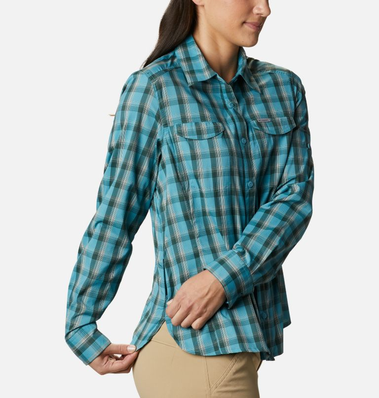 Silver Ridge™ Lite Plaid LS Shirt | 430 | XS Women's Silver Ridge™ Lite Plaid Long Sleeve Shirt, Canyon Blue Plaid, a4