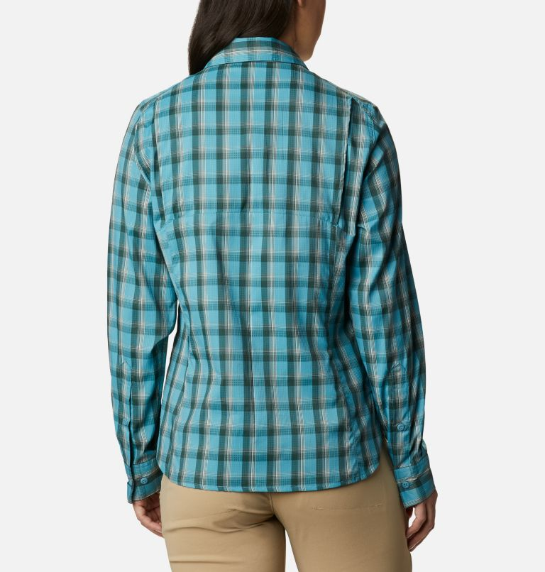 Silver Ridge™ Lite Plaid LS Shirt | 430 | XXL Women's Silver Ridge™ Lite Plaid Long Sleeve Shirt, Canyon Blue Plaid, back