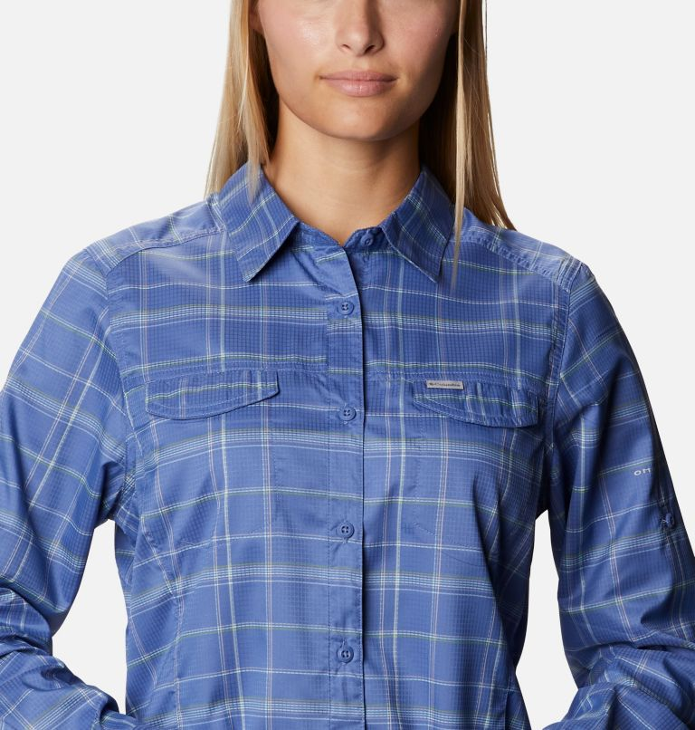 Silver Ridge™ Lite Plaid LS Shirt   458   M Women's Silver Ridge™ Lite Plaid Long Sleeve Shirt, Velvet Cove Grid Lines, a2