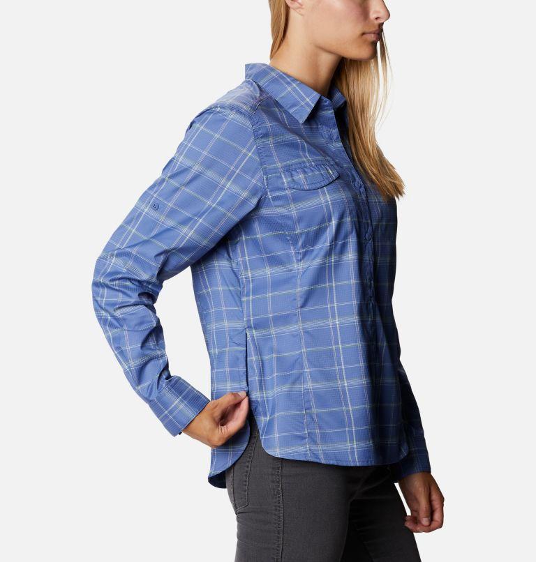 Silver Ridge™ Lite Plaid LS Shirt   458   M Women's Silver Ridge™ Lite Plaid Long Sleeve Shirt, Velvet Cove Grid Lines, a4