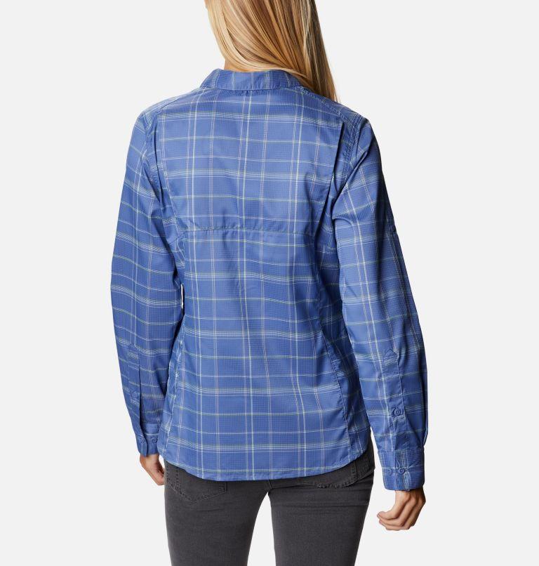 Silver Ridge™ Lite Plaid LS Shirt   458   M Women's Silver Ridge™ Lite Plaid Long Sleeve Shirt, Velvet Cove Grid Lines, back