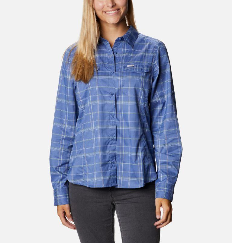 Silver Ridge™ Lite Plaid LS Shirt   458   M Women's Silver Ridge™ Lite Plaid Long Sleeve Shirt, Velvet Cove Grid Lines, front