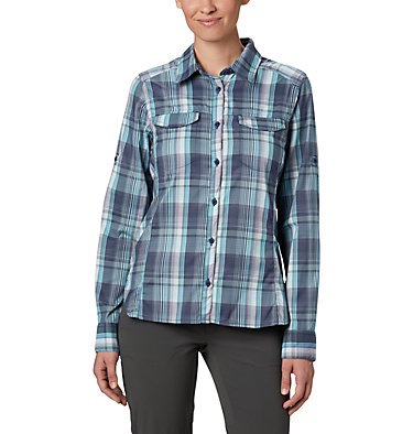 Women's Silver Ridge™ Lite Plaid Long Sleeve Shirt Silver Ridge™ Lite Plaid LS Shirt | 035 | L, Nocturnal Medium Multi Plaid, front
