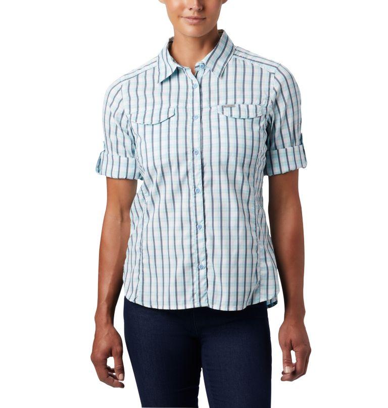 Silver Ridge™ Lite Plaid LS Shirt | 490 | L Women's Silver Ridge™ Lite Plaid Long Sleeve Shirt, Spring Blue Gingham Plaid, a1