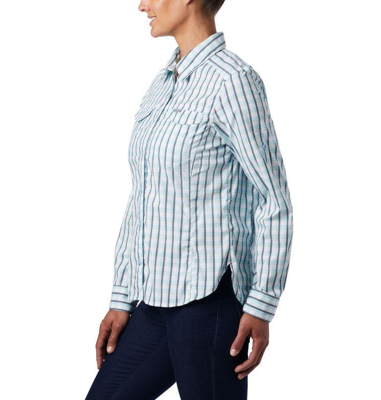 Silver Ridge™ Lite Plaid LS Shirt | 490 | S Women's Silver Ridge™ Lite Plaid Long Sleeve Shirt, Spring Blue Gingham Plaid, a2