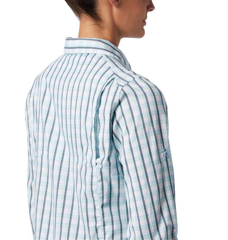 Silver Ridge™ Lite Plaid LS Shirt | 490 | S Women's Silver Ridge™ Lite Plaid Long Sleeve Shirt, Spring Blue Gingham Plaid, a3