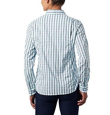 Women's Silver Ridge™ Lite Plaid Long Sleeve Shirt Silver Ridge™ Lite Plaid LS Shirt   035   L, Spring Blue Gingham Plaid, back