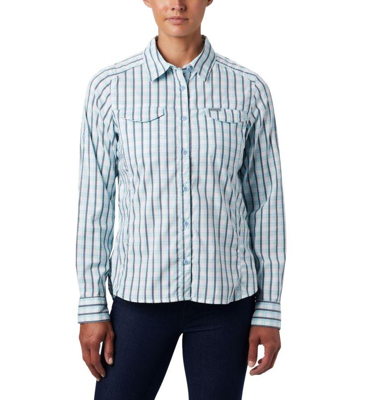 Silver Ridge™ Lite Plaid LS Shirt | 490 | L Women's Silver Ridge™ Lite Plaid Long Sleeve Shirt, Spring Blue Gingham Plaid, front